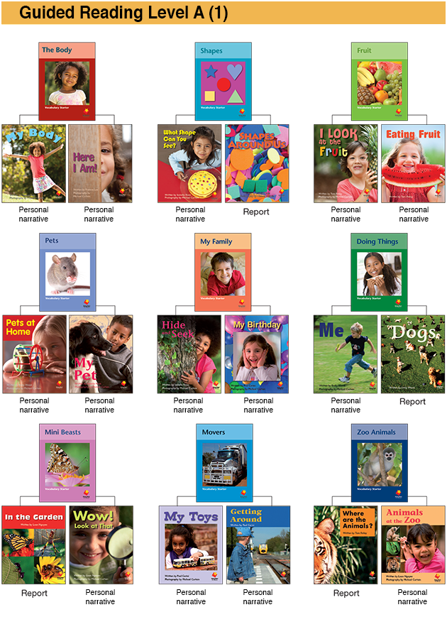 Flying Start to Literacy Early Emergent Guided Reading Stage Books Level 1